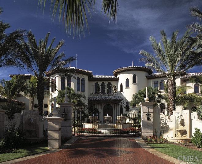 Mediterranean Exterior by Clifford M. Scholz Architects Inc.