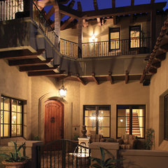 mediterranean exterior by Schwab Luxury Homes and Interiors