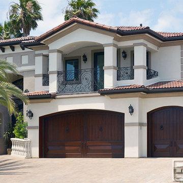 Mediterranean Garage Doors - Custom Manufactured Luxury Wood Garage Doors