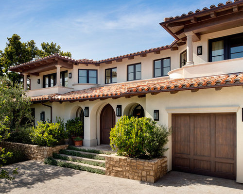 Spanish colonial revival architecture houzz for Spanish revival exterior paint colors
