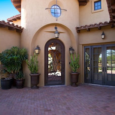 Mediterranean Exterior by Carlson Homes Scottsdale