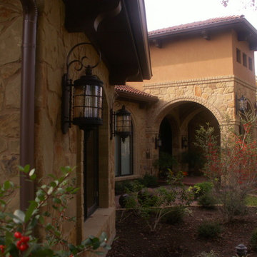 mediterranean style custom entryway