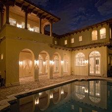 Mediterranean Exterior by RAR Architect Inc.