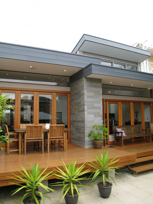 Roof parapet wall home design ideas pictures remodel and - Flat roof home designs ...