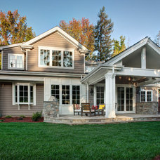 Traditional Exterior by Allwood Construction Inc