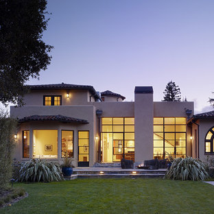Inspiration for a mediterranean stucco exterior home remodel in San Francisco