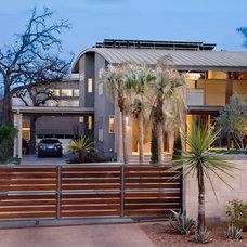 Contemporary Exterior by Texas Construction Company