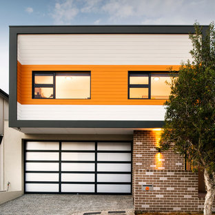 Trendy two-story mixed siding exterior home photo in Perth