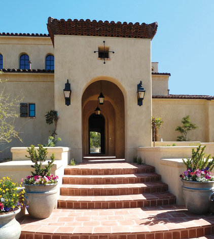 Mediterranean Exterior by Pentimento Lighting and Furnishings