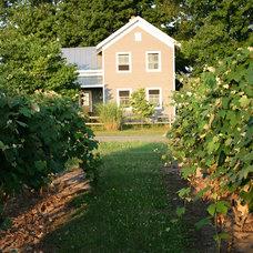 Farmhouse Exterior by Rebekah Zaveloff | KitchenLab