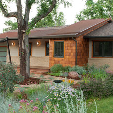 Midcentury Exterior by Blue Stone Woodworks