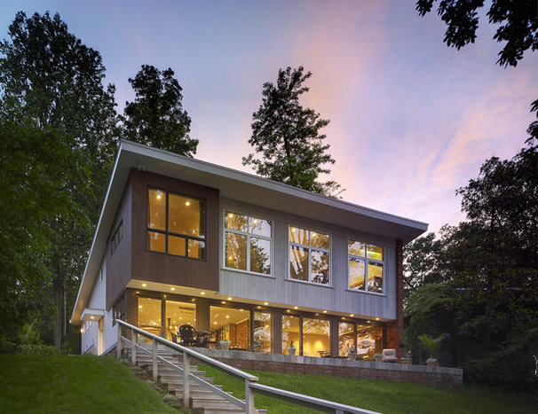 Contemporary Exterior by Coupard Architects and Builders