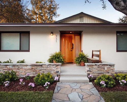 Midcentury Stucco Exterior Design Ideas Renovations Amp Photos