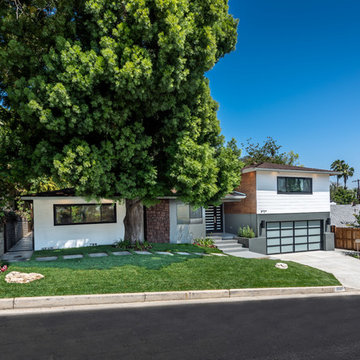 Mid-Century Modern Style Exterior Front | Wrightwood Residence | Studio City, CA