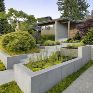 Inspiration for a contemporary one floor exterior in Seattle.
