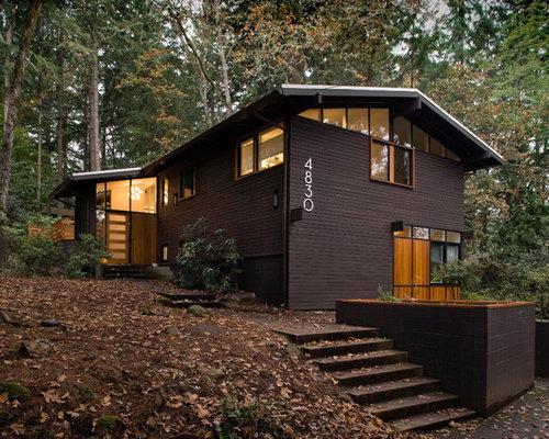 Brown Cedar Siding : Dark reddish brown cedar home design ideas renovations