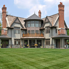 Traditional Exterior by DeRosa Builders LLC
