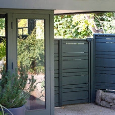 Midcentury Exterior by cocoon home design