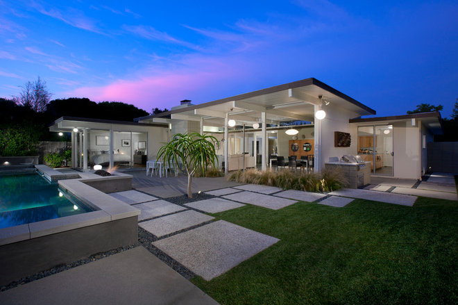 Midcentury Exterior by Martin King Photography