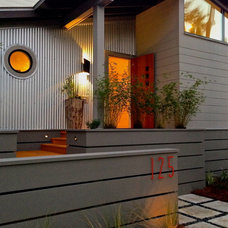Midcentury Exterior by tammy massey   architect + interior designer