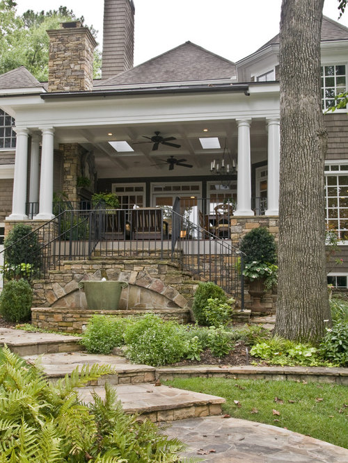 Inspiration For A Timeless Two Story Wood Exterior Home Remodel In Atlanta