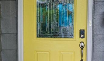 Midtown Tulsa Exterior Repaint With Bright Yellow Door