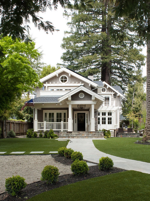 Inspiration For A Timeless Gray Two Story Wood Exterior Home Remodel In San  Francisco