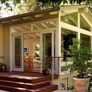 Elegant wood exterior home photo in Portland
