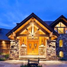 Rustic Exterior by Copper Creek Homes, LLC