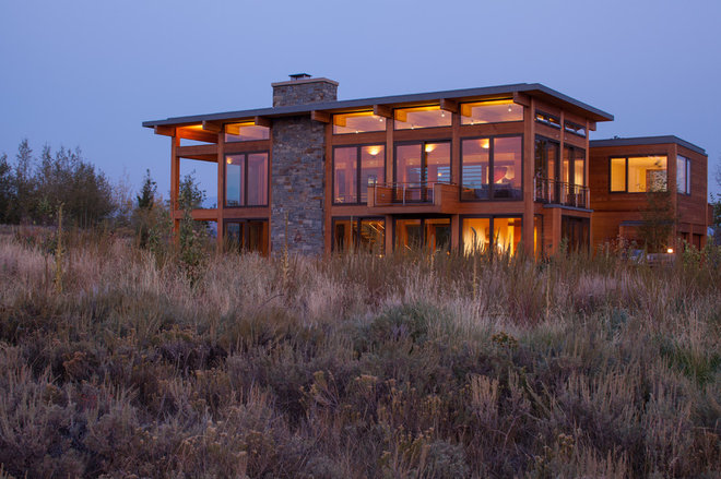 Modern Exterior by Teton Heritage Builders