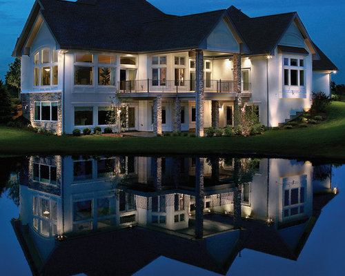 Awe Inspiring Houzz Facade Lighting Design Ideas Remodel Pictures Largest Home Design Picture Inspirations Pitcheantrous