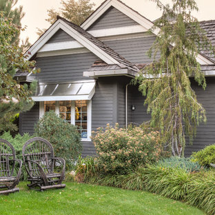 Example of a classic brown exterior home design in Vancouver