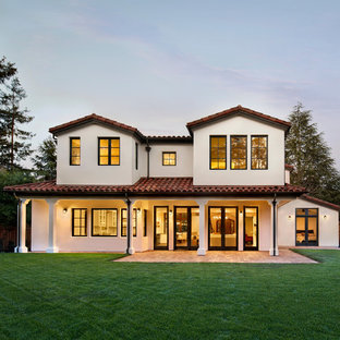 Tuscan two-story exterior home photo in San Francisco