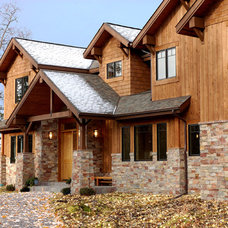 Rustic Exterior by MQ Architecture & Design, LLC