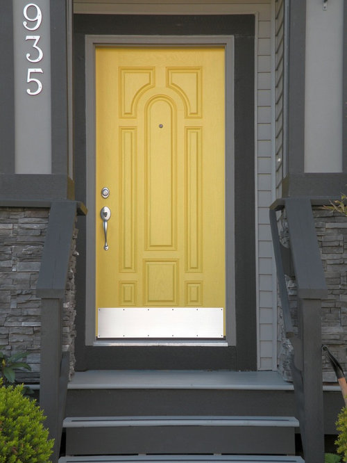 Contemporary front door color home design photos decor for Modern front door decor