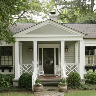 Traditional wood exterior home idea in Birmingham
