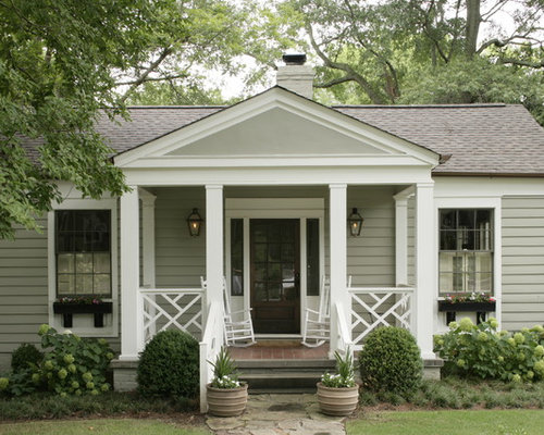 Painted rocking chairs ideas - Design Ideas For A Traditional Exterior In Birmingham With Wood Siding