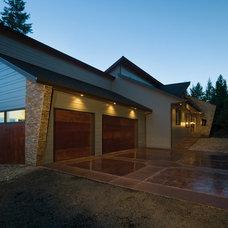 Contemporary Exterior by Cornerstone Inc. Custom Homes