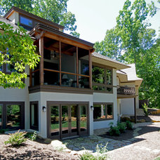 Contemporary Exterior by Timberpeg