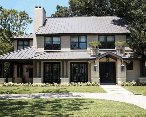 Best modern craftsman design ideas remodel pictures houzz for Metal roof craftsman home