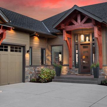 Modern Craftsman Home | Front Door Ideas | Modern Style