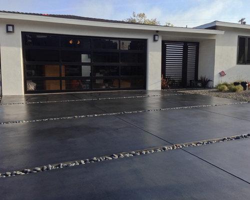 Concrete Driveway Color Design Ideas & Remodel Pictures | Houzz