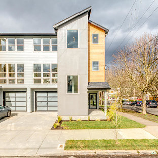 Example of a minimalist exterior home design in Portland