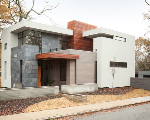 Modern exterior wall tile home design ideas pictures for Modern stone houses architecture