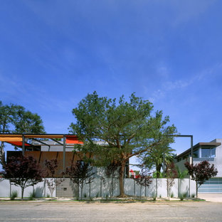 Medium sized industrial two floor house exterior in Los Angeles.