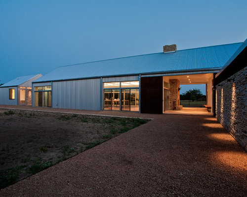 Best metal building design ideas remodel pictures houzz for Metal building house ideas