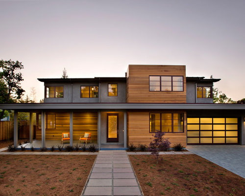 stucco and wood siding home design ideas pictures