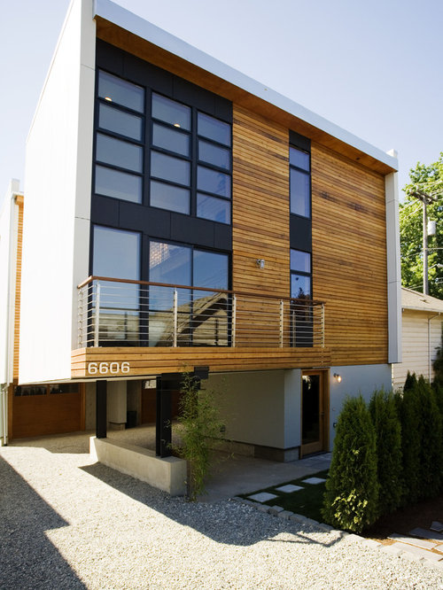 Best Natural Wood Siding Design Ideas & Remodel Pictures ... on Contemporary Siding Ideas  id=88654