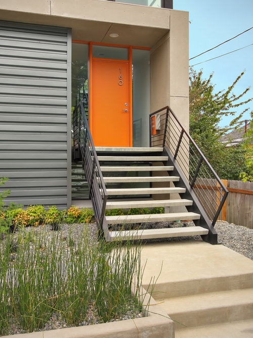 Popular exterior house colors ideas pictures remodel and decor for Mid century modern exterior paint