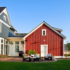 Farmhouse Exterior by Charles Vincent George Architects, Inc.